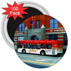 Double Decker Bus   Ave Hurley   3  Button Magnet (100 pack)