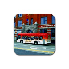 Double Decker Bus   Ave Hurley   Drink Coaster (Square)