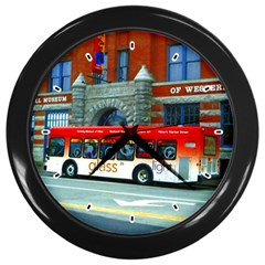 Double Decker Bus   Ave Hurley   Wall Clock (Black)