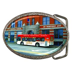 Double Decker Bus   Ave Hurley   Belt Buckle (Oval)