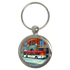 Double Decker Bus   Ave Hurley   Key Chain (Round)