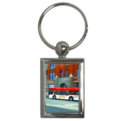 Double Decker Bus   Ave Hurley   Key Chain (Rectangle)