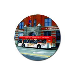 Double Decker Bus   Ave Hurley   Drink Coasters 4 Pack (Round)