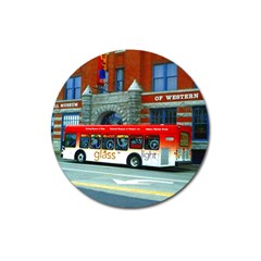 Double Decker Bus   Ave Hurley   Magnet 3  (Round)