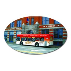 Double Decker Bus   Ave Hurley   Magnet (oval)