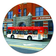 Double Decker Bus   Ave Hurley   Magnet 5  (Round)