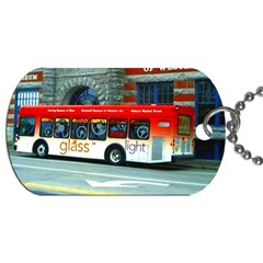 Double Decker Bus   Ave Hurley   Dog Tag (two Sided)