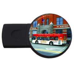 Double Decker Bus   Ave Hurley   1GB USB Flash Drive (Round)