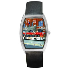 Double Decker Bus   Ave Hurley   Tonneau Leather Watch