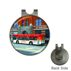 Double Decker Bus   Ave Hurley   Hat Clip With Golf Ball Marker