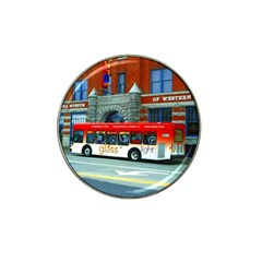 Double Decker Bus   Ave Hurley   Golf Ball Marker 4 Pack (for Hat Clip)