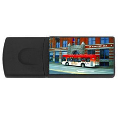 Double Decker Bus   Ave Hurley   4GB USB Flash Drive (Rectangle)