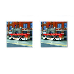 Double Decker Bus   Ave Hurley   Cufflinks (Square)