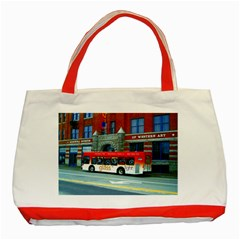Double Decker Bus   Ave Hurley   Classic Tote Bag (Red)