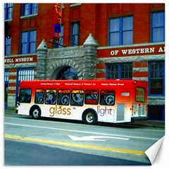 Double Decker Bus   Ave Hurley   Canvas 12  X 12  (unframed)