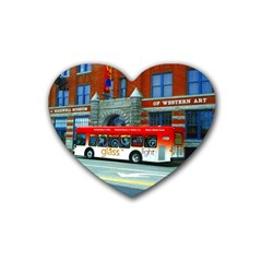 Double Decker Bus   Ave Hurley   Drink Coasters 4 Pack (Heart)