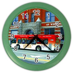 Double Decker Bus   Ave Hurley   Wall Clock (Color)