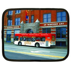 Double Decker Bus   Ave Hurley   Netbook Sleeve (large)