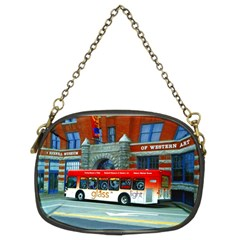 Double Decker Bus   Ave Hurley   Chain Purse (two Sided)