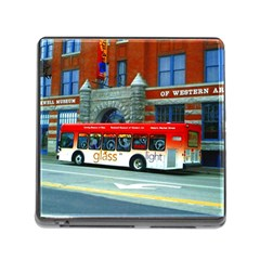 Double Decker Bus   Ave Hurley   Memory Card Reader With Storage (square)