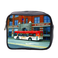 Double Decker Bus   Ave Hurley   Mini Travel Toiletry Bag (two Sides)