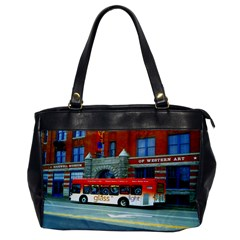 Double Decker Bus   Ave Hurley   Oversize Office Handbag (One Side)