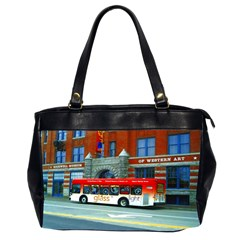 Double Decker Bus   Ave Hurley   Oversize Office Handbag (Two Sides)
