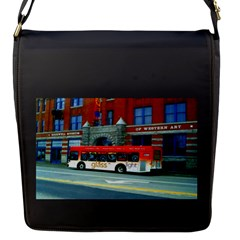 Double Decker Bus   Ave Hurley   Flap Closure Messenger Bag (Small)