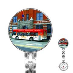 Double Decker Bus   Ave Hurley   Stainless Steel Nurses Watch