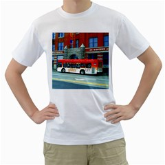Double Decker Bus   Ave Hurley   Men s T Shirt (white)