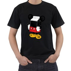 Milky Mouse Men s T Shirt (black)
