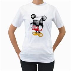 Milky Mouse Women s T Shirt (white)