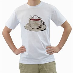 Tea Time Men s T-Shirt (White)