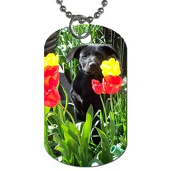 Black GSD Pup Dog Tag (Two-sided)