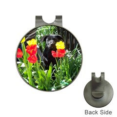 Black GSD Pup Hat Clip with Golf Ball Marker