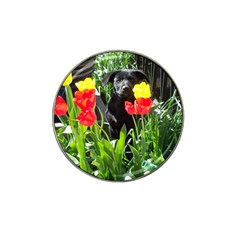 Black GSD Pup Golf Ball Marker 4 Pack (for Hat Clip)