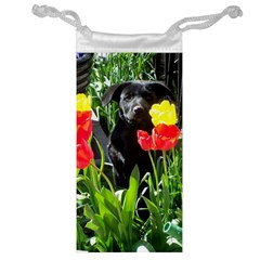 Black Gsd Pup Jewelry Bag