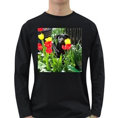 Black GSD Pup Men s Long Sleeve T-shirt (Dark Colored)