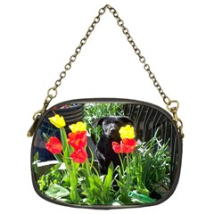 Black Gsd Pup Chain Purse (two Sided)