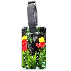 Black GSD Pup Luggage Tag (Two Sides)