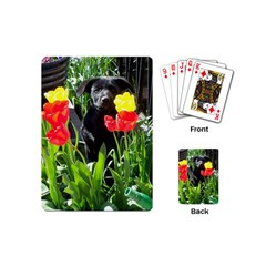 Black GSD Pup Playing Cards (Mini)