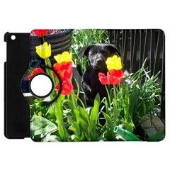 Black GSD Pup Apple iPad Mini Flip 360 Case
