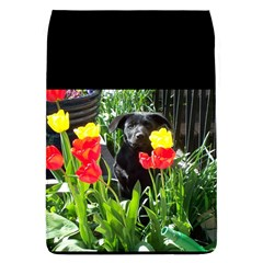 Black GSD Pup Removable Flap Cover (Large)