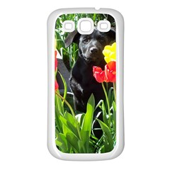 Black Gsd Pup Samsung Galaxy S3 Back Case (white)