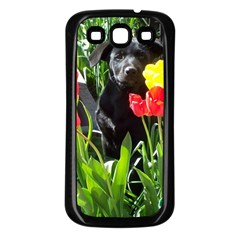 Black GSD Pup Samsung Galaxy S3 Back Case (Black)