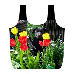 Black GSD Pup Reusable Bag (L)
