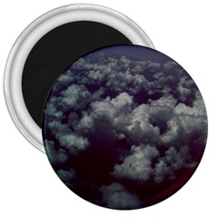Through The Evening Clouds 3  Button Magnet