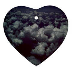 Through The Evening Clouds Heart Ornament