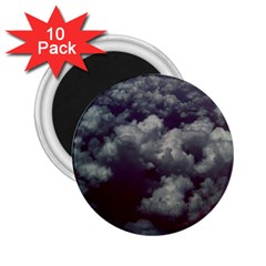 Through The Evening Clouds 2.25  Button Magnet (10 pack)