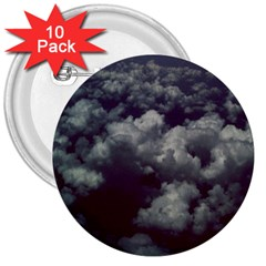 Through The Evening Clouds 3  Button (10 pack)